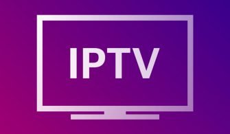 IPTV resolution presentation TV nameplates of white gradient color on gradient background. TV symbols and icons. Vector.